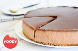עוגת גבינה ושוקולד ללא אפייה | צילום: ספיר דהן