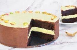 עוגת שוקולד פיסטוק חגיגית | צילום: ספיר דהן
