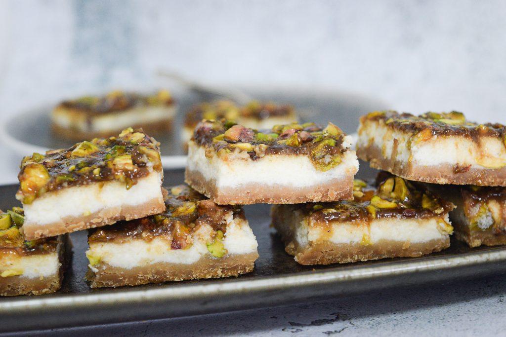 חיתוכיות גבינה ופיסטוק   צילום: ספיר דהן