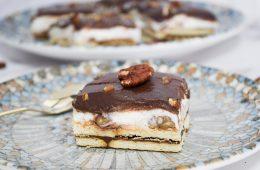 עוגת ביסקוויטים שוקולד פקאן | צילום: ספיר דהן